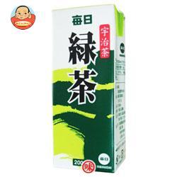 毎日牛乳 毎日緑茶 200ml紙パック×24本入