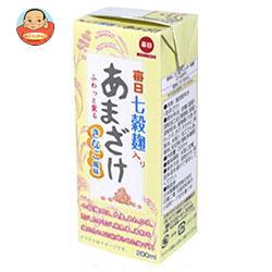 毎日牛乳 毎日七穀麹入りあまざけ きなこ風味 200ml紙パック×24本入