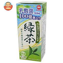 毎日牛乳 乳酸菌100億個入り緑茶 200ml紙パック×24本入