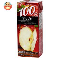 毎日牛乳 毎日 100%アップル 200ml紙パック×24本入