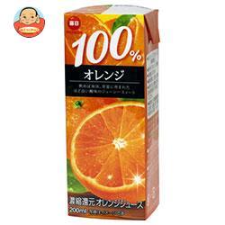 毎日牛乳 毎日 100%オレンジ 200ml紙パック×24本入