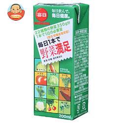 毎日牛乳 毎日1本で野菜満足 200ml紙パック×24本入