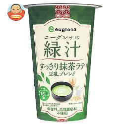 ユーグレナ ユーグレナの緑汁 すっきり抹茶ラテ 豆乳ブレンド 180g×12本入