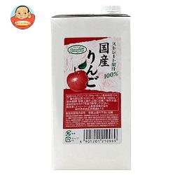 UCC GreenField(グリーンフィールド) 国産りんごストレート果汁100% 1000ml紙パック×6本入
