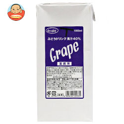 UCC GreenField(グリーンフィールド) ぶどうドリンク果汁40% 1000ml紙パック×6本入