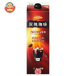 ハマヤ 炭焼アイスコーヒー 低糖 1000ml紙パック×12本入