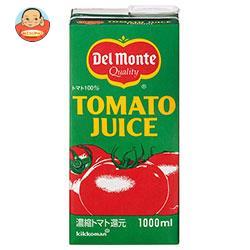 デルモンテ トマトジュース 1L紙パック×12(6×2)本入