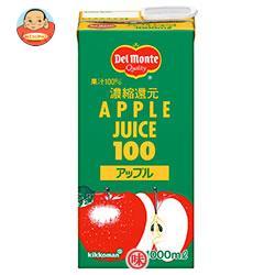 デルモンテ アップルジュース 1L紙パック×12(6×2)本入