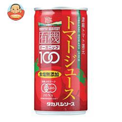 タカハシソース カントリーハーヴェスト 有機トマトジュース 食塩無添加 190g缶×30本入