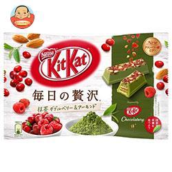 ネスレ日本 キットカット 毎日の贅沢 抹茶 ダブルベリー&アーモンド 105g×12袋入