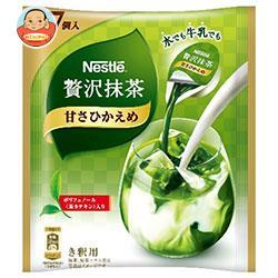 ネスレ日本 ネスレ 贅沢抹茶 ポーション 甘さひかえめ (11g×7P)×24袋入