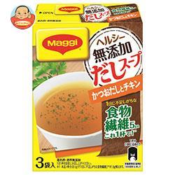 ネスレ日本 マギー ヘルシー無添加だしスープ かつおとチキン 8.1g×3袋×6箱入