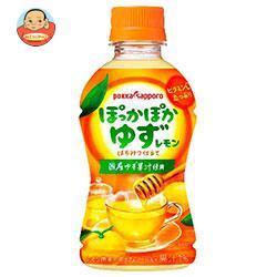 ポッカサッポロ 【HOT用】ぽっかぽかゆずレモン 310mlペットボトル×24本入