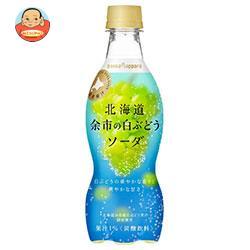 ポッカサッポロ 北海道余市の白ぶどうソーダ 420mlペットボトル×24本入