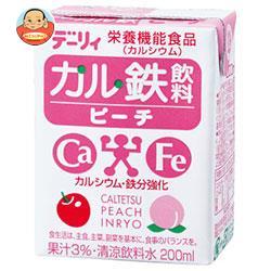 南日本酪農協同 デーリィ カル鉄飲料 ピーチ 200ml紙パック×24本入