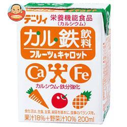 南日本酪農協同 デーリィ カル鉄飲料 フルーツ&キャロット 200ml紙パック×24本入
