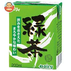 南日本酪農協同 デーリィ 緑茶 200ml紙パック×24本入