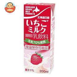 南日本酪農協同 北海道日高 いちごミルク 200ml紙パック×24本入