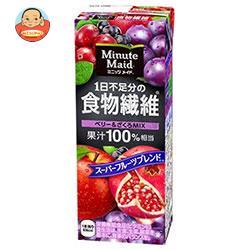 明治 Minute Maid(ミニッツメイド) 1日不足分の食物繊維 ベリー&ざくろMIX 200ml紙パック×24本入