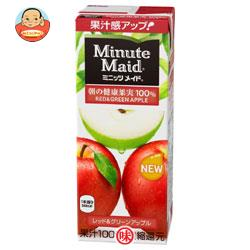 明治 Minute Maid(ミニッツメイド) レッド&グリーンアップル100% 200ml紙パック×24本入