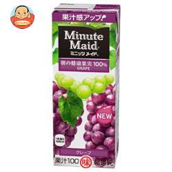 明治 Minute Maid(ミニッツメイド) グレープ100% 200ml紙パック×24本入