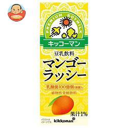 キッコーマン 豆乳飲料 マンゴーラッシー 200ml紙パック×18本入