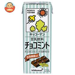 キッコーマン 豆乳飲料 チョコミント 200ml紙パック×18本入