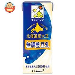 キッコーマン 濃いタイプ 北海道産大豆 無調整豆乳 200ml紙パック×18本入