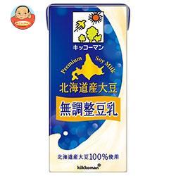 キッコーマン 濃いタイプ 北海道産大豆 無調整豆乳 1000ml紙パック×12(6×2)本入
