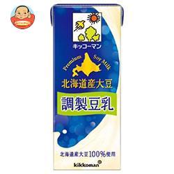 キッコーマン 北海道産大豆 調製豆乳 200ml紙パック×18本入