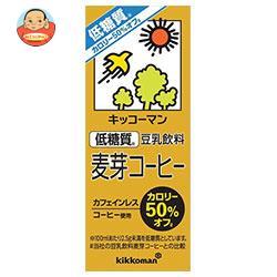 キッコーマン 低糖質 豆乳飲料 麦芽コーヒー 200ml紙パック×18本入