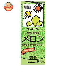 キッコーマン 豆乳飲料 メロン 200ml紙パック×18本入