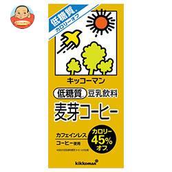 キッコーマン 低糖質 豆乳飲料 麦芽コーヒー 1000ml紙パック×12(6×2)本入