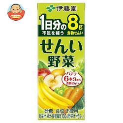 伊藤園 せんい野菜 200ml紙パック×24本入