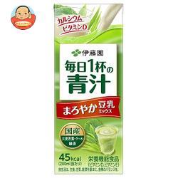 伊藤園 豆乳でまろやか 毎日1杯の青汁 200ml紙パック×24本入
