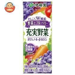 伊藤園 充実野菜 ブルーベリーミックス 野菜とブルーベリー 200ml紙パック×24本入