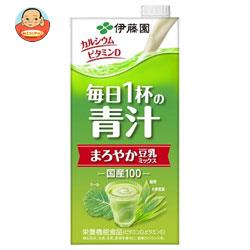 伊藤園 毎日1杯の青汁 まろやか豆乳ミックス 1L紙パック×12(6×2)本入