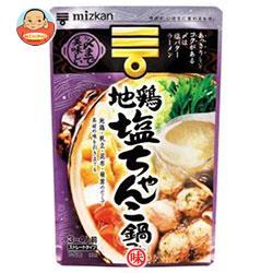 ミツカン 〆まで美味しい 地鶏塩ちゃんこ鍋つゆストレート 750g×12袋入