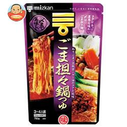 ミツカン 〆まで美味しい ごま担々鍋つゆストレート 750g×12袋入