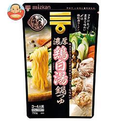 ミツカン 〆まで美味しい 濃厚鶏白湯鍋つゆ ストレート 750g×12袋入