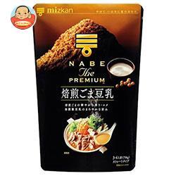ミツカン NABE THE PREMIUM(ナベ ザ プレミアム) 焙煎ごま豆乳鍋つゆ 750g×12袋入