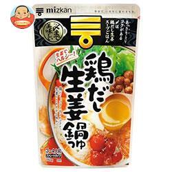 ミツカン 〆まで美味しい 鶏だし生姜鍋つゆ ストレート 750g×12袋入
