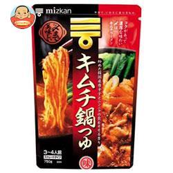 ミツカン 〆まで美味しい キムチ鍋つゆ ストレート 750g×12袋入