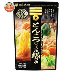 ミツカン 〆まで美味しい とんこつしょうゆ鍋つゆ ストレート 750g×12袋入