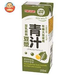 マルサンアイ 豆乳飲料 青汁豆ジャン 200ml紙パック×24本入