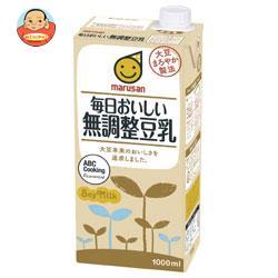 マルサンアイ 毎日おいしい無調整豆乳 1000ml紙パック×12(6×2)本入