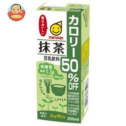 マルサンアイ 豆乳飲料 抹茶 カロリー50%オフ 200ml紙パック×24本入