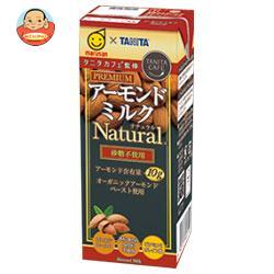 マルサンアイ タニタカフェ監修 アーモンドミルク ナチュラル(砂糖不使用) 200ml紙パック×24(12×2)本入