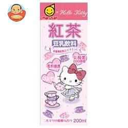 マルサンアイ ハローキティ 豆乳飲料 紅茶 200ml紙パック×24(12×2)本入