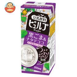 マルサンアイ 豆乳飲料ピュルプ 黒ごま&ナタデココ 200ml紙パック×18本入